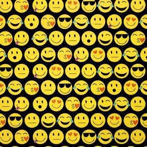 Geschenkpapier Teenager 70cm x 2m Rolle, Motive:Smileys Emojis