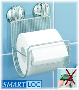 WENKO Smart Loc WC-Rollenhalter Papierrollenhalter Stahl  Toilettenpapierhalter PALERMO - ohne bohren und schrauben