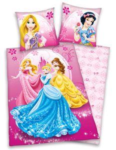 Disney´s Princess Bettwäsche Prinzessin 80x80 + 135x200 cm mit Reißverschluss