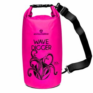 DryBag (wasserdichter Seesack / Tasche) Krake 20L pink