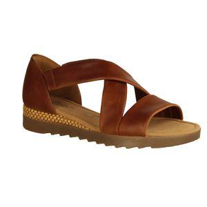 Gabor Comfort Sandale braun Größe 6, Farbe: peanut(Raff/ambra)