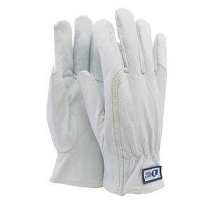 Soft Touch  Truck Arbeitshandschuhe Montagehandschuhe Weiß - Montagehandschuhe aus flexiblem Ziegenleder - 10 / XL - 12 Paar
