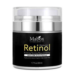 Mabox 50ml Retinol 2,5% Feuchtigkeitscreme Gesichtscreme Hyaluronsaeure Anti-Aging Falten entfernen Vitamin E Kollagen Glatte Whitening Cream