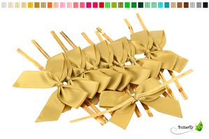 Satinschleifen 5cm, 10 Stück, Farbauswahl:gold 687