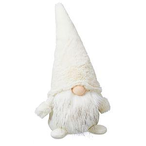 Weihnachtswichtel in Weiß, gr., ca. H39cm Wichtel Weihnachtsdeko Dekofigur Weihnachten