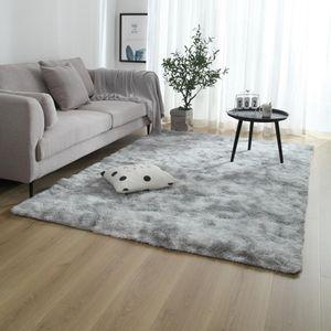 Hochflor Teppiche,Weicher Teppich,rutschfester Teppich,Für Wohnzimmer und Schlafzimmer,grau,120 x 160 cm