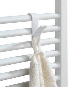 Haken für Handtuchheizkörper Weiß, 2er Set