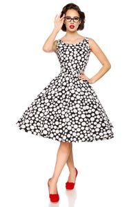 Vintage Kleid Größe XL (42) in schwarz / weiß mit Dots