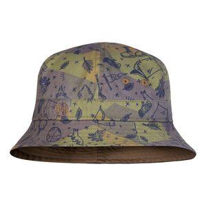 Buff  Bucket Hat Kids Patterned Camp Khaki One Size