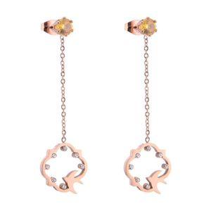 Mllaid Damen Ohrringe Goldene Kette Lange Quaste Ohrringe Anhänger Ohrringe