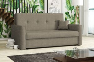 Mirjan24 Schlafsofa Viva Bis III, 3-Sitzer Sofa mit Bettkasten und Schlaffunktion, Polstersofa vom Hersteller, Stilvoll Couch (Spirit 3)