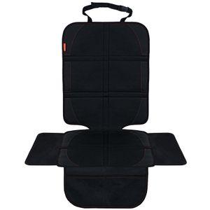 Autositzauflage Kindersitzunterlage Auto Sitzschoner Schutz Unterlagen Isofix geeignet wasserabweisend Anti-Rutsch, Schwarz