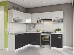 KÜCHE Lux 250 Cm Schwarz KÜCHENZEILE Küchenblock Einbauküche Komplettküche
