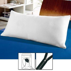 Viskoelastisches Komfort Nackenstützkissen 40 x 80 cm orthopädisches Schlafkissen mit kuschelig weichen & abnehmbaren Bezug ergonomisches Gesundheitskissen für optimale Druckentlastung des Nackens