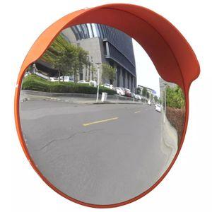 vidaXL Verkehrsspiegel Konvex PC-Kunststoff Orange 45 cm Outdoor