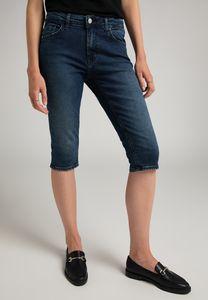 MUSTANG Damen Hose Rebecca Capri Slim Fit Farbe: dunkelblau Größe: 30