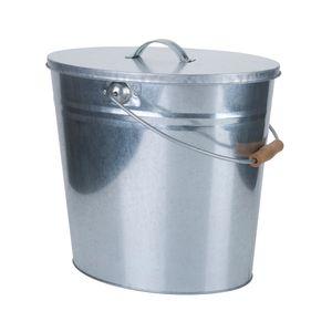 Ascheeimer, Metall verzinkt, ca. 15 l