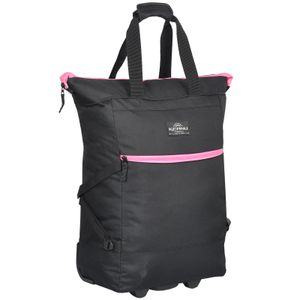 Einkaufstrolley Keanu WHEEL Trolley Shopping Damentasche Einkaufsroller Korb Shopper - Trinity Black Pink Trims