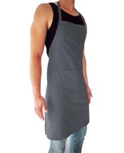 sinnlein Schürze Kochschürze Latzschürze Gastronomie Grillschürze Küchenschürze Grau