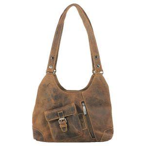 Greenburry Vintage Leder Handtasche Shopper 1917-25