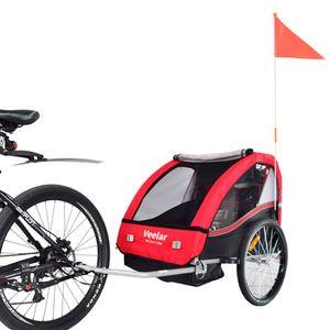 Veelar Sports Kinderanhänger Fahrradanhänger Anhänger  Kinderfahrradanhänger