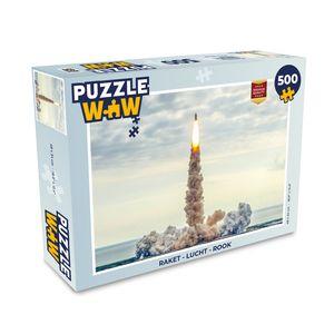 Puzzle 500 Teile - Bild einer abhebenden Rakete