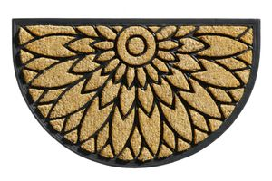 Kokos Fußmatte Gummi Sonnenblume 45x75x2cm