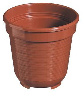 10er Set Pflanzkübel Blumentopf Standard 26 cm rund aus Kunststoff Sparpaket, Farbe:terracotta