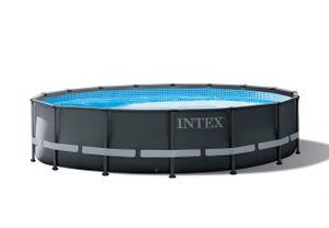 Intex Pool 26326 mit Zubehör Ultra XTR-Rahmen 488 x 122 cm anthrazitfarben