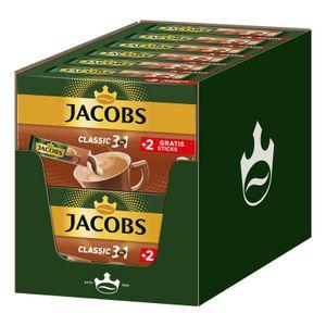 JACOBS Löskaffee 3in1 Classic löslicher Kaffee 12 x 10+2 Sticks Instantkaffee