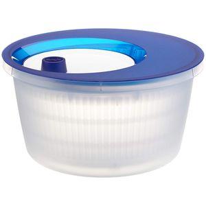Emsa Basic Salatschleuder, Transluzent Blau/Weiß, 4,0 L, 505088