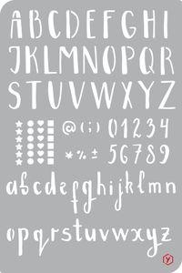 "Bullet Journal Schablone ""Alphabet"", Format 12 x 18 cm"