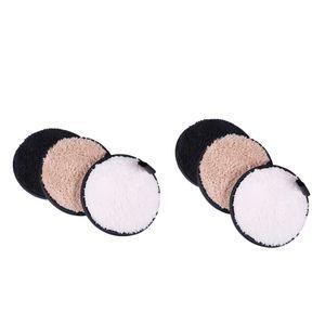 2 Sets 3 in 1 Waschbare Abschminkpads Make-up Entferner Pads Makeup Gesichtsreinigung aus Baumwolle