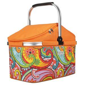 anndora Kühlkorb 25 Liter Orange paisley - Paisley