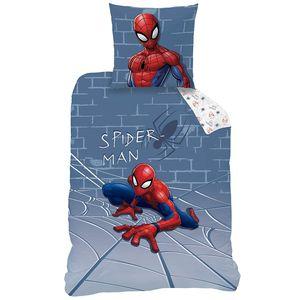 Spiderman Flanell Bettwäsche, 80 x 80 cm + 135 x 200 cm Biber