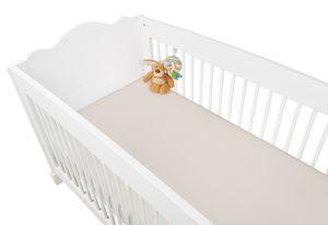 Jersey-Spannbetttücher für Kinderbetten im Doppelpack, natur