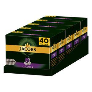 JACOBS Kapseln Lungo Intenso 5 x 40 Nespresso®* kompatible Kaffeekapseln