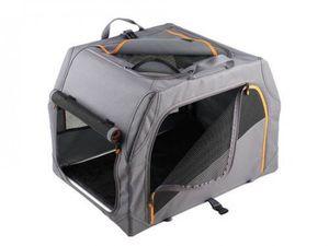 Hunter Hundetransportbox Alu-Gestell 76x50,5x48 cm  anthrazit/orange