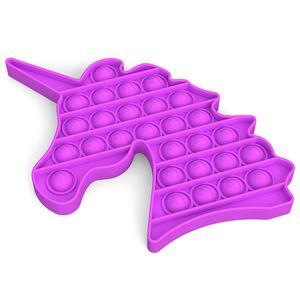 Push Pop It Pop Blase Sensorisches Zappeln Spielzeug Autismus Stressabbau Kinder Lernspielzeug Farbe : Lila - Unicorn