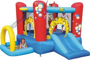 Happy Hop 9214 'Bubble 4 in 1 Play Center ' Hüpfburg mit Gebläse und Tasche ; für bis zu 3 Kinder ; Maße (LxBxH): 300 cm x 280 cm x 175 cm