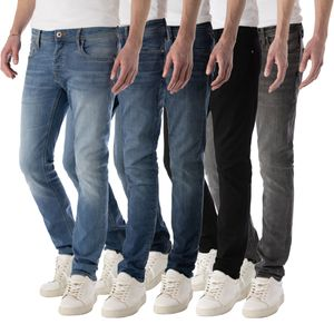 JACK & JONES JEANS NZGLENN Slim-Fit, Farbe:Blue Denim 812 / Dunkelblau, Hosengröße:W36/32