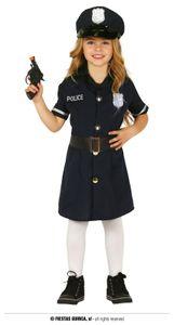 Fiestas Guirca verkleiden sich Polizei Mädchen blau mt 110-115