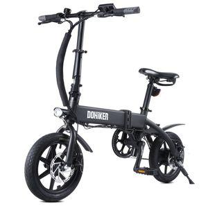 DOHIKER 14 Zoll Elektrisches Fahrrad Electric Bike E-Bike Faltrad E-Bike Citybike Elektrofahrrad mit 10Ah 36V LED Leucht Scheinwerfer 25KM/H 250W Wasserdicht, Schwarz