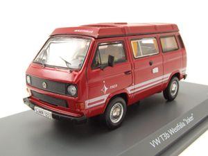 VW T3 a Westaflia Joker Camping Bus rot Modellauto 1:43 Schuco