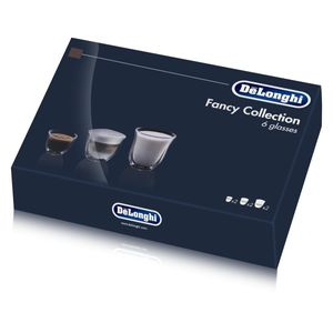 Delonghi Fancy Box 6er Set Thermo Gläser DLSC302 (1er Pack)