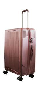 Reisekoffer Rosegold Trolley Hartschale Reise Koffer Handgepäck  4 Doppelrollen TSA-Schloss (Koffer XL) 406032)
