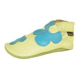 Boumy 2300 2302 2306 Flower Power Krabbelschuhe Lauflernschuhe Babyschuhe verschiedene Farben Farbe:türkis/grün;Größe:19