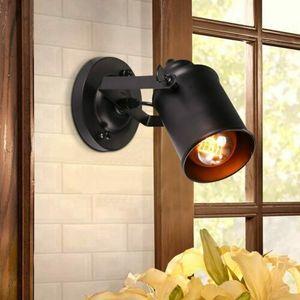 E27 Retro Vintage Wandleuchte Wandlampe Wandspot Industrial Antik-Stil Außen Flur Leuchte Cafe Licht Schwarz