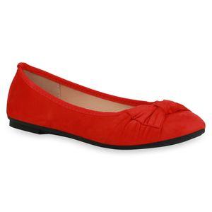 Giralin Damen Klassische Ballerinas Schuhe 836339, Farbe: Rot, Größe: 38