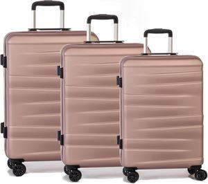 Worldpack kofferset Montreal 38/61/95 Liter ABS rosa 3 Stück